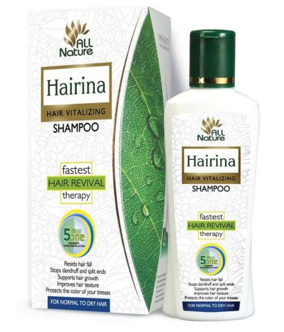 Шампунь лечебный Хайрина для жирных волос Ayusri Hairina Hair Vitalizing Shampoo for Oily Hair