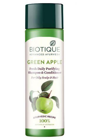Шампунь-кондиционер для жирных волос Зеленое яблоко Biotique Green Apple Shampoo & Conditioner