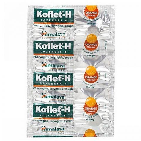 Кофлет, леденцы от кашля с апельсином и медом Himalaya Koflet-H Orange Lozenges