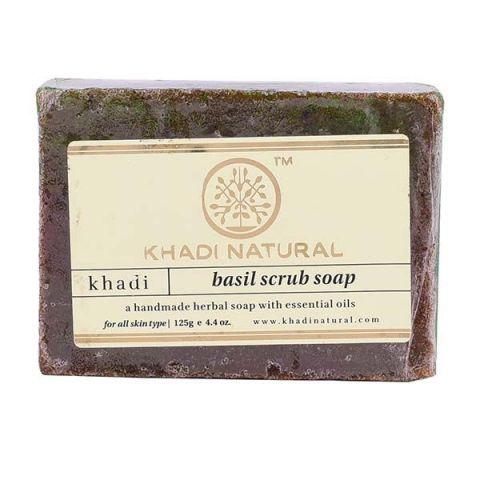 Мыло-скраб Базилик Khadi Basil Scrub Soap