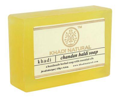 Khadi Herbal Haldi and Chandan Soap