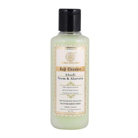 Шампунь бессульфатный Ним и Алоэ Вера Khadi Neem & Aloevera Hair Cleanser SLS/Paraben Free
