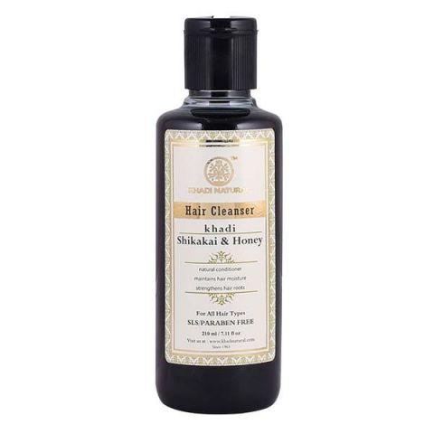 Шампунь бессульфатный Шикакай и Мед Khadi Shikakai & Honey Hair Cleanser SLS/Paraben Free