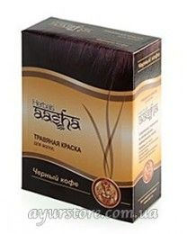 Краска для волос на основе хны Ааша Хербалс (черный кофе) Aasha Herbals Black Coffee Herbal Hair Dye