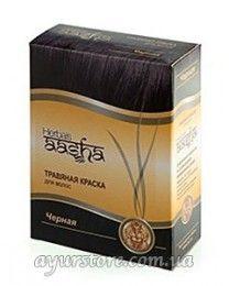 Краска для волос на основе хны Ааша Хербалс (черный) Aasha Herbals Black Herbal Hair Dye
