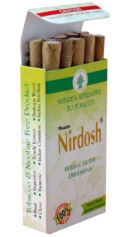Нирдош сигареты-ингалятор с фильтром Maans Nirdosh Herbal Dhoompan Original