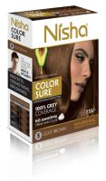Nisha Color Sure Hair Color Light Brown