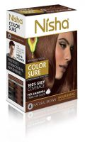 Nisha Color Sure Hair Color Natural Brown