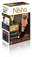 Nisha Color Sure Hair Color Choco Brown