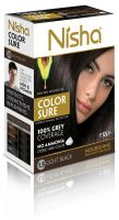 Nisha Color Sure Hair Color Light Black