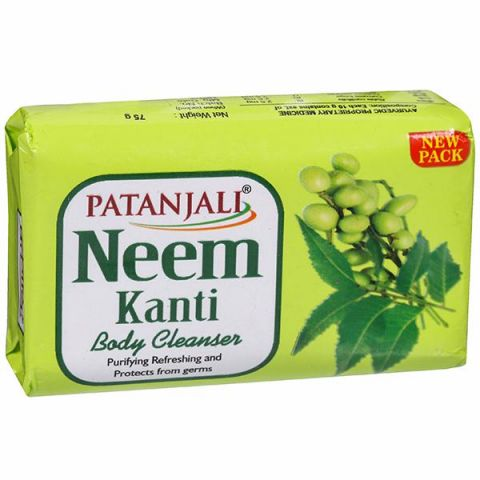 Мыло антибактериальное с нимом Patanjali Neem Kanti Body Cleanser