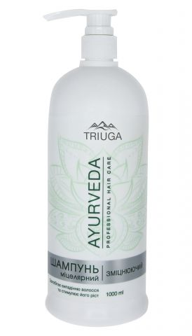Мицеллярный шампунь Укрепляющий 1000 мл Triuga Ayurveda Professional Hair Care