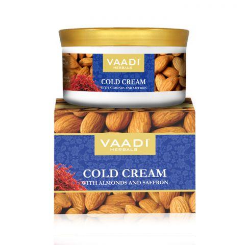 Крем зимний с миндальным маслом, алоэ вера и шафраном Vaadi Cold Cream with Almond Oil, Aloe Vera & Saffron