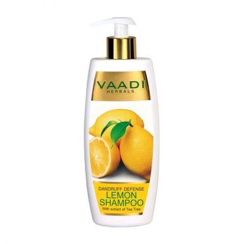 Шампунь от перхоти Лимон с экстрактом чайного дерева Vaadi Dandruff Defense Lemon Shampoo with Tea Tree Extract