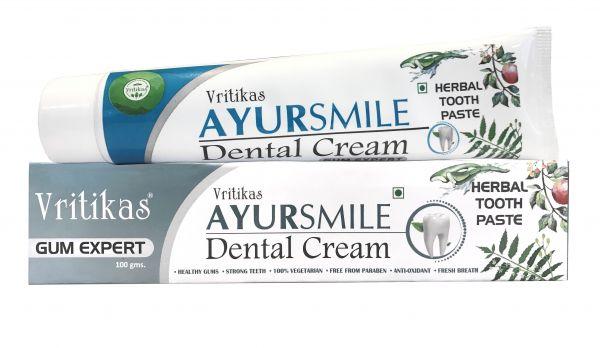 Зубная паста Аюрсмайл Vritikas Ayursmile Dental Cream