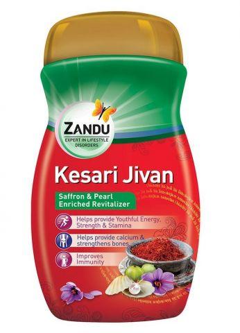 Чаванпраш с шафраном Кесари Дживан Zandu Kesari Jivan
